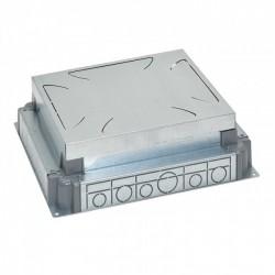 Auto-adjusting backbox for standard or flush version floor boxes - for concrete floor - 12..18 modules