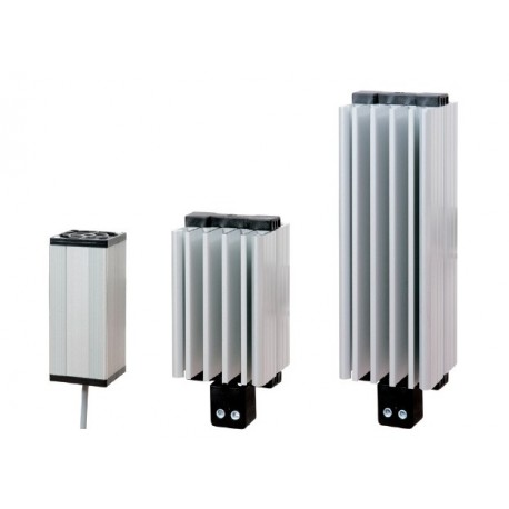 Fan heater 100W, 110-250 VAC DC, IP20, conformity: CE – UL, 2 screw terminals