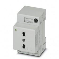 Utičnica, za DIN šinu, konektor pin, vijčani spoj, vrsta L, tip: EO-L/UT/SH/LED