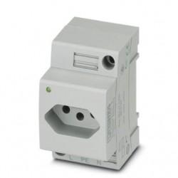 Utičnica, za DIN šinu, konektor pin pattern N, 20A, tip: EO-N/UT/LED