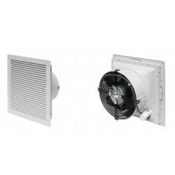 Filter fan 500m3h,  230V, 50Hz, RAL 7035, IP54, 325x325x151 mm