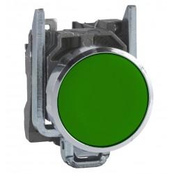 "Green flush complete pushbutton diameter: 22, spring return 1NO ""unmarked"""