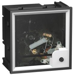 Ampermetar AMP PowerLogic, 96x96, feromagnetski, za motorni napajač, bez skale, 5A, 3In
