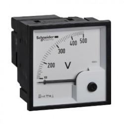 Analog voltmeter VLT, 72x72 mm, 0..500 V