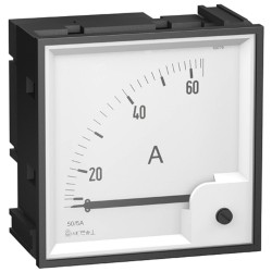 Analog AMP ammeter scale 0..100 A