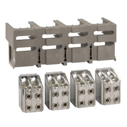 Front bare cable connectors, 4 connectors, for 4 x 240 mm2, 1 connector shield