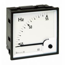 Frequency meter, 72x72 mm, 230…240 V, scale 45…55 Hz