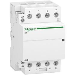 Contactor iCT40A, 4P, 40A, 4NO, 220...240V AC