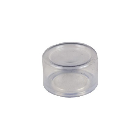 Transparent boot for circular projecting pushbutton diam: 22