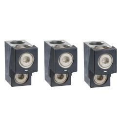 Bare cable connectors, Compact NSX 400/630, aluminium, 2 cables 35 mm2, to 300 mm2, set of 3 parts