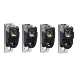 Bare cable connectors, Compact NSX 100/160/250, aluminium, 2 cables 35 mm2 to 300 mm2, set of 4 parts