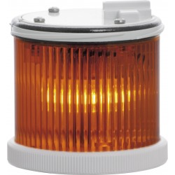 Light module in orange color TWS F MT, with traditional Ba15d lamp holder. Permanently light. 12..240 V AC/DC. IP65.