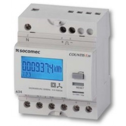 Electrical energy meter COUNTIS E21, direct, 3 phase, 63A