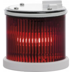 Light module in red color TWS L MT, with traditional Ba15d lamp holder. Flashing light. 12..240 V AC/DC. IP65.