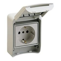 PratiKa socket, 16 A, 2P +  PE, 200…250 V AC, IP65