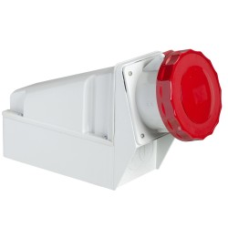 PratiKa socket, 63 A, 3P + N +  PE, 380…415 V AC, IP67