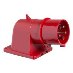 PratiKa wander plug, angled, 32 A, 3P + N + PE, 380…415 V AC, IP44