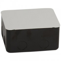 Pop-up type flush-mounting boxes, for workstation & meeting room table applications, black, 4 modules