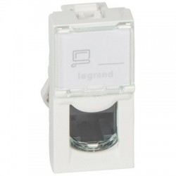 Socket RJ45 Mosaic, category 5e, UTP, 1 module, white