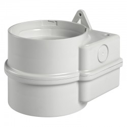Module base, double, for lateral/wall mounting, grey (RAL 7035). 12/24 V AC/DC. IP 66. Dimensions: 117 x 120 x 97 mm (L x W x H
