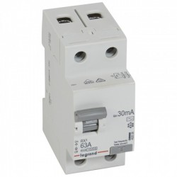 Residual current circuit breakeR ID K, RX3, 2P, 63A, 30 mA, AC type