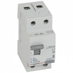 Residual current circuit breakeR ID K, RX3, 2P, 80A, 30 mA, AC type