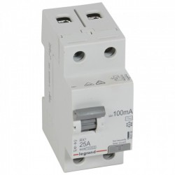 Residual current circuit breakeR ID K, RX3, 2P, 25A, 100  mA, AC type