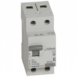 Residual current circuit breakeR ID K, RX3, 2P, 63A, 100 mA, AC type