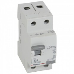 Residual current circuit breakeR ID K, RX3, 2P, 40A, 30 mA, A tip