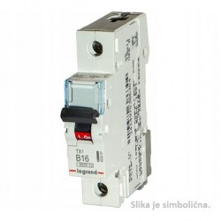 Miniature Circuit Breaker, 6kA,1P, 20A, B curve code