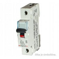 Miniature Circuit Breaker, 6kA,1P, 63A, B curve code
