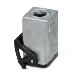 Coupling housings B6, with single locking latch, Die-cast aluminum, cable outlets: 1, straight, 73 mm, cable gland: none, suppo