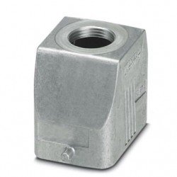 Sleeve housing B6, for single locking latch, Die-cast aluminum, cable outlets: 1, straight, 52 mm, cable gland: none, support s