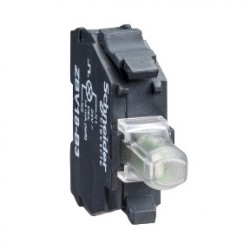 Green light block for head diam: 22, integral LED 230...240V screw clamp terminals