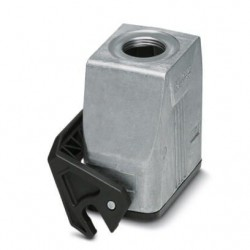 Coupling housings B10, single locking latch, Die-cast aluminum, cable outlets: 1, straight, height: 73 mm, cable gland: none, s