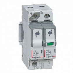 Surge protection device, 1P+N, type 2, 40kA, no remote indication