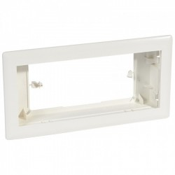 Flush-mounting frame for dry partitions