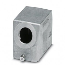 Sleeve housing B10, single locking latch, Die-cast aluminum, cable outlets: 1, lateral, 57 mm, cable gland: none, support sleev