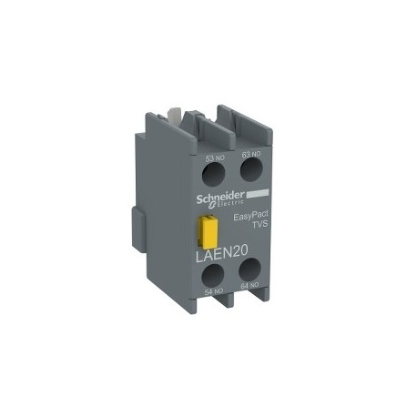 Auxiliary contact block - 2 NO - screw-clamps terminals