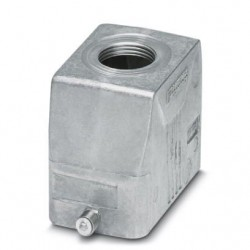 Sleeve housing B10, single locking latch, Die-cast aluminum, cable outlets: 1, straight, 57 mm, cable gland: none, no support s