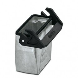 Coupling housings B16, single locking latch, Die-cast aluminum, cable outlets: 1, straight, 79 mm, cable gland: none, support s