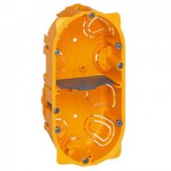 Flush mounting box Batibox, 2 gang, depth 40 mm