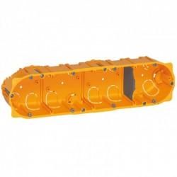 Flush mounting box Batibox, 4 gang, depth 40 mm