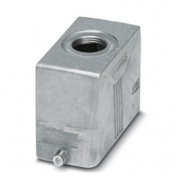 Sleeve housing B16, for single locking latch, material: Die-cast aluminum, salt water resistant, cable outlets: 1, straight, he