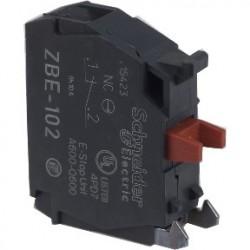 Single contact block for head O22 1NC silver alloy screw clamp terminal