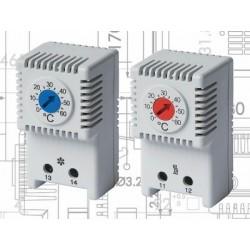 Fan thermostat, 1NO kontakt, 0-60°C, 10A