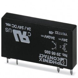 Plug-in miniature solid-state relay, power solid-state relay, 1 N/O contact, input: 24 V DC, output: 3 - 33 V DC/3 A. OPT-24DC/