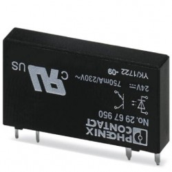 Plug-in miniature solid-state relay, power solid-state relay, 1 N/O contact, input: 24 V DC, output: 24 - 253 V AC/0.75 A. OPT-