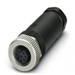 Connector, 8-position, Socket straight M12, Screw connection, cable gland Pg9, 6 mm ... 8 mm, SACC-M12FS-8CON-PG9-M