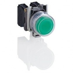 Orange complete pilot light daimeter: 22, plain lens with integral LED 24V